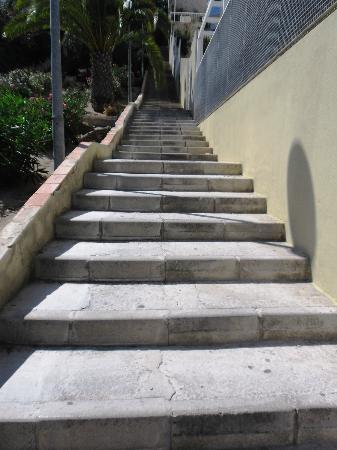 Hotel Amic Horizonte: le scale da percorrere per arrivare all'hotel
