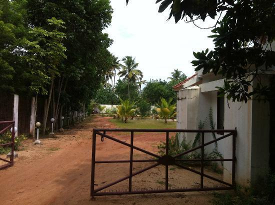 Marari Fishermen Village Beach Resort: Resort entrance - no board you can see