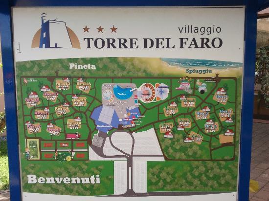 Villaggio Torre del Faro : Pianta del villaggio