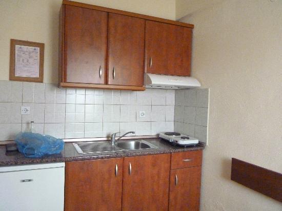 Alkionis Studios: A part of kitchen (it has a refrigerator too)