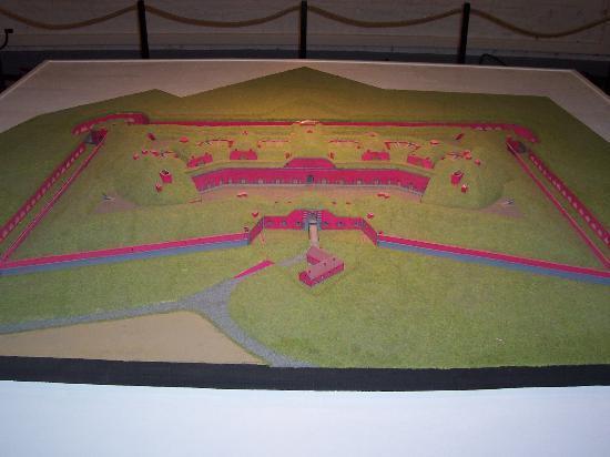 Fort de Leveau: Maquette du fort