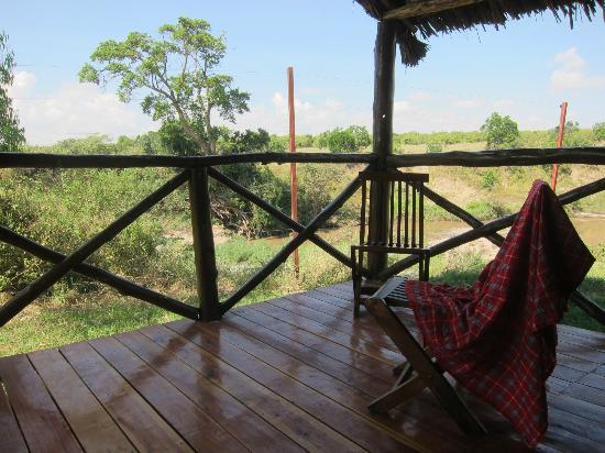 Kichakani Mara Camp: view from tent terrace