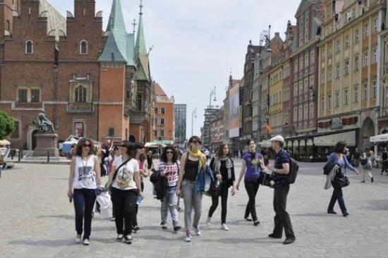 Lower Silesia Walking Tour - Wroclaw: on the main square in Wroclaw