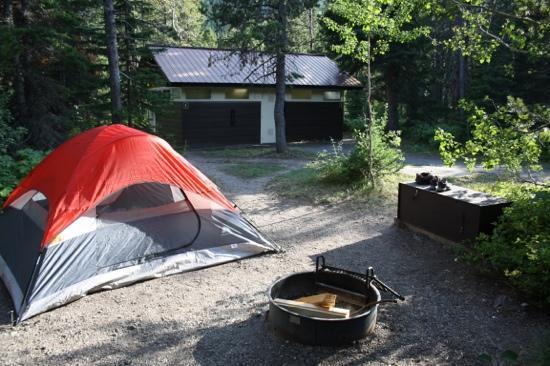 Many Glacier Campground: campground many glacier