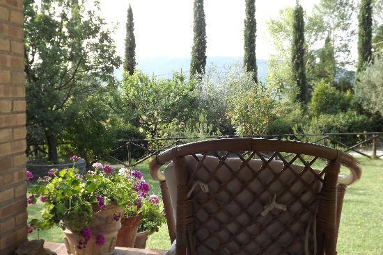 Agriturismo ColleParadiso: panorama dal portico