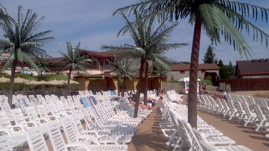 Camelbeach Mountain Waterpark Wave Pool Lounges With Cabanas Behind