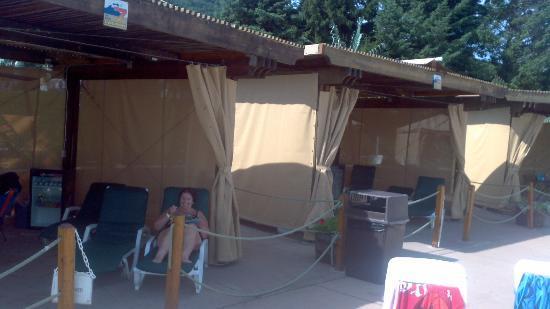 Wavepool Deluxe Cabanas 3 5 Picture Of Camelbeach