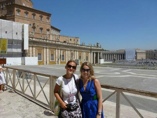 Walking Tours of Rome with Lara - Private Guided Tours : Myself and our tour guide outside St. Peters.