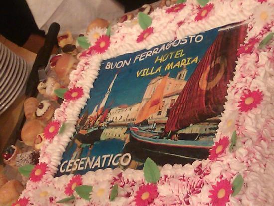 Villa Maria : Cenone di Ferragosto - Torta