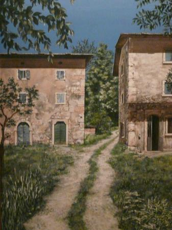Agriturismo La Perlara : dipinto sul fondo del corridorio