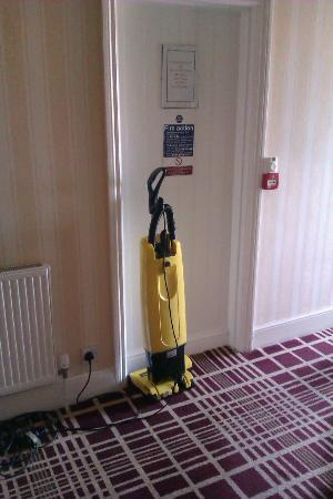The White Horse: Unattended Hoover in front of fire escape, we did move it!