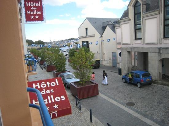Hôtel Des Halles : la vue de la fenetre de la petite chambre