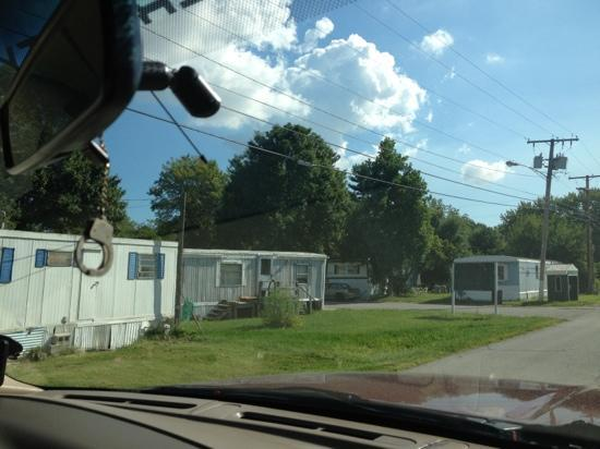 Yogi Bear's Jellystone Park Camp-Resort: the mobile home park on the way in to the camp