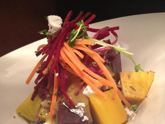 Louie's Steakhouse and Lounge: Beet Salad with blood orange vinaigrette and goat cheese
