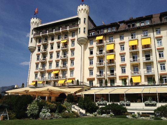 Gstaad Palace Hotel: vom Garten aus