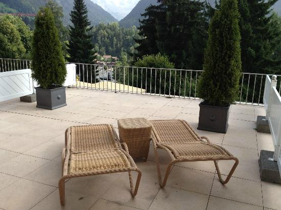 Gstaad Palace Hotel: Terrasse