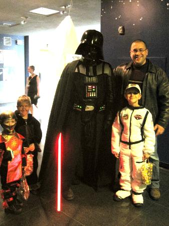 Cranbrook Institute of Science: Photo outside the Planetarium with Darth Vader....