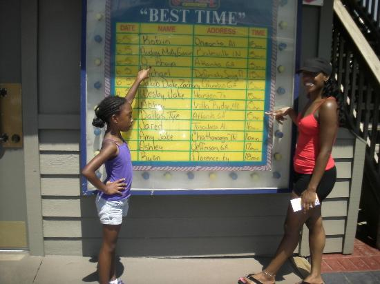 Coconut Creek Family Fun Park: yep old folks and kids both on the best time board