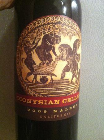 Dionysian Cellars : Malbec label1