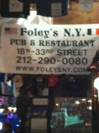 Foley's Pub & Restaurant: Address and Phone number