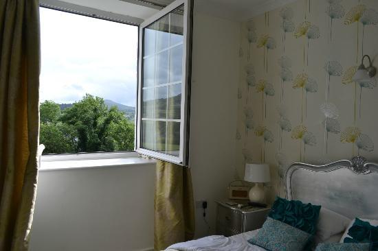 Ty Croeso Bed & Breakfast: Bedroom with gorgeous view
