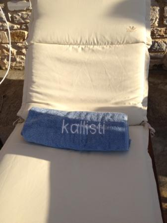 Kallisti Rooms & Apartments: Transat avec serviette ! top