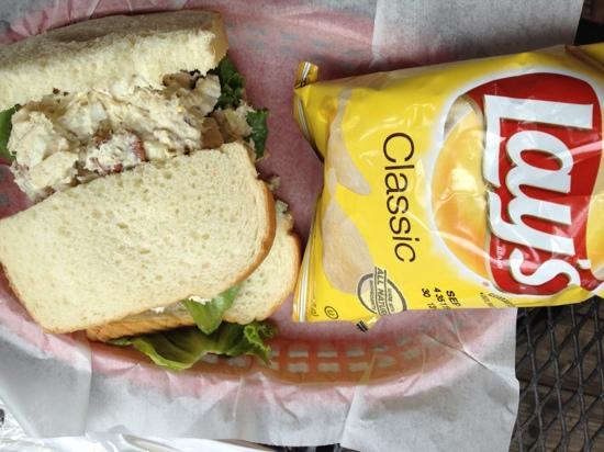 Happy Tomato Cafe: chicken salad sandwich
