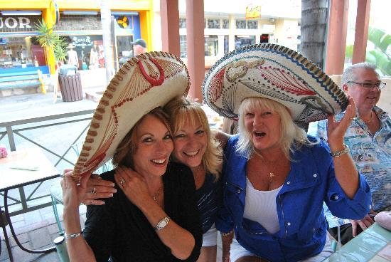 Coyote Joe's: Having a couple of Margaritas for the bithday girl.