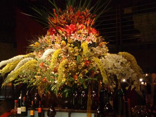 Texas de Brazil: beautiful bouquet over the salad bar