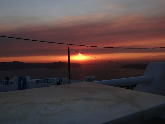 Merovigliosso Apartments: Puesta de Sol desde la Terraza
