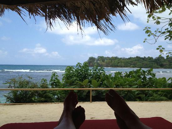 Geejam's private beach