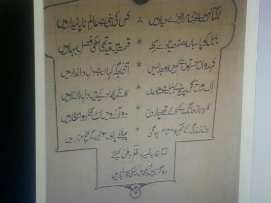 Tomb of Bahadur Shah Zafar: his famous poem