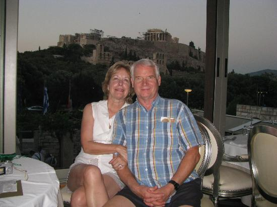 Dionysos Zonar's: One happy couple with the Acropolis in the background