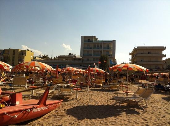 Hotel Igea Spiaggia : vista dell'albergo dalla spiaggia
