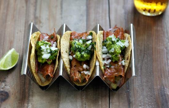 Puesto Mexican Street Food: Crispy Melted Cheese Tacos with Homemade Guacamole