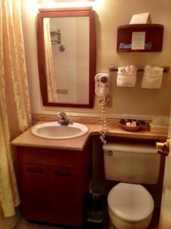Anchorage Grand Hotel: Sweet little bathroom