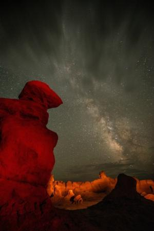 Green River, Γιούτα: Goblin Valley at night