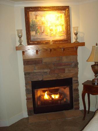 Lookout Point Lakeside Inn: Fireplace