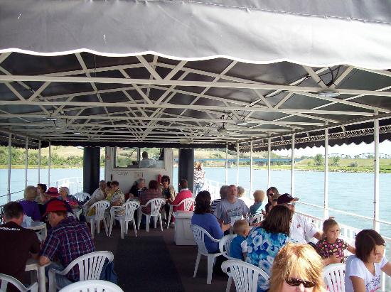 Lewis and Clark Riverboat: Upper Level seating