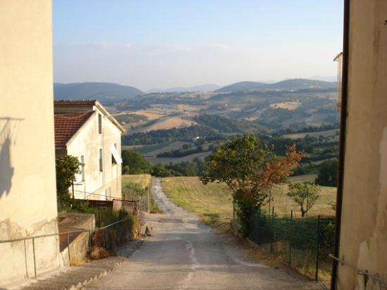 Ristorante Giubbi Belvedere : A cute little road, next to the hotel, where you can have a digestive walk