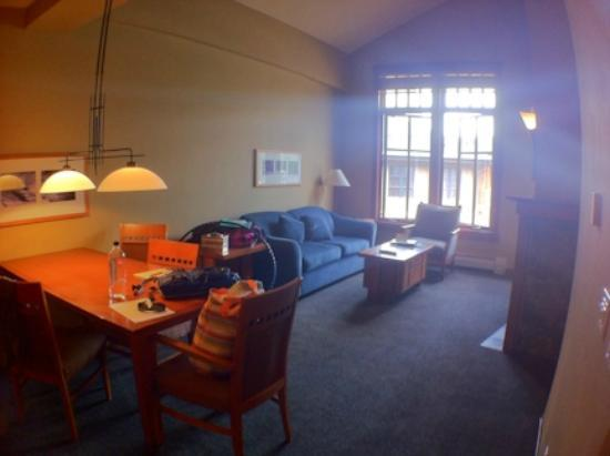 The Village At Squaw Valley: Living room and dining room