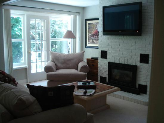 "Auberge Ty Lyon: 42"" TV, fireplace & door to back deck"