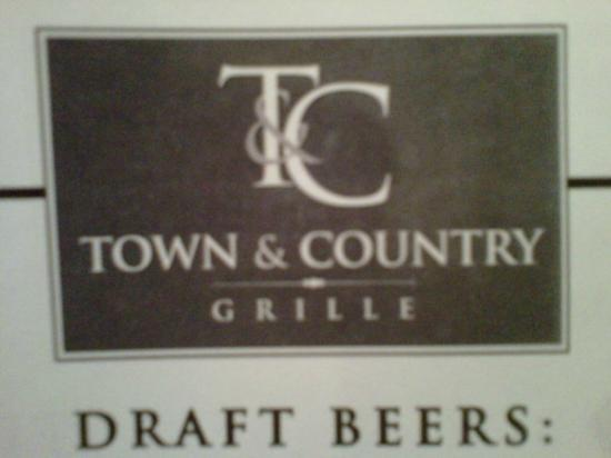 Town & Country Restaurant: Wine & Beer