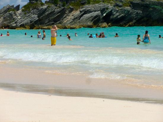 Horseshoe Bay Beach: You can't walk on this beach without stepping on someone.