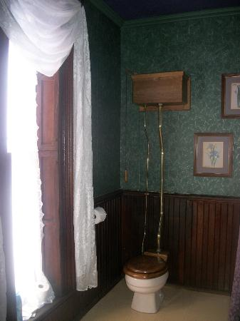 Spencer House Bed and Breakfast: gravity toilet