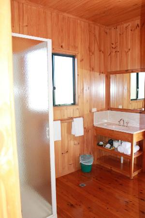 Henderson Park Farm Retreat: Cabin 1 bathroom