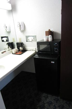 Sands Inn & Suites: Sink and mini-fridge.
