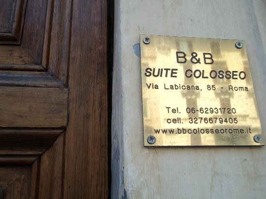 Aklesia Suite B&B - Colosseo: Ingreso