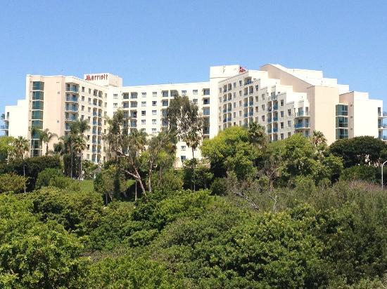 Newport Beach Marriott Bayview Hotel View From Car