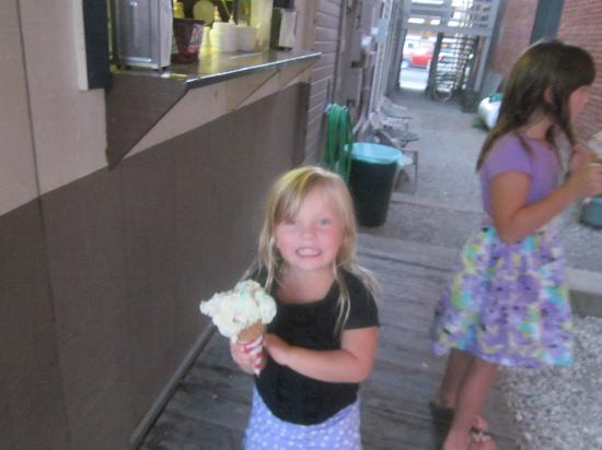 Ice Cream Alley: This scoop is almost as big as my grand-daughters head.
